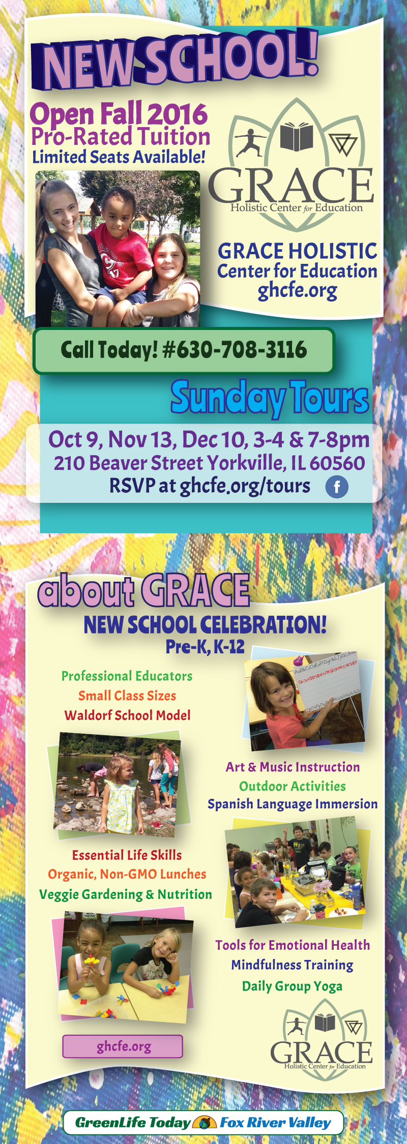 yorkville illinois private school, fox river valley, grace holistic center for education